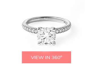 pave contour engagement ring matching wedding rings