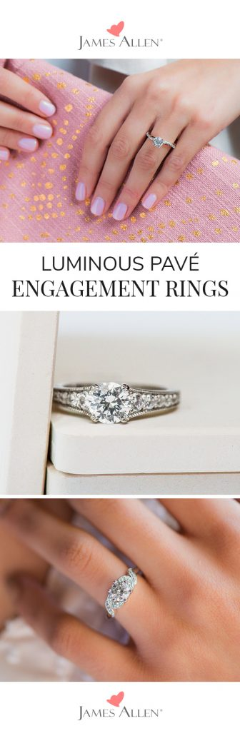pave engagement ring pinterest pin