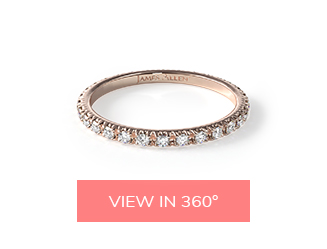 pave eternity rose gold matching wedding rings