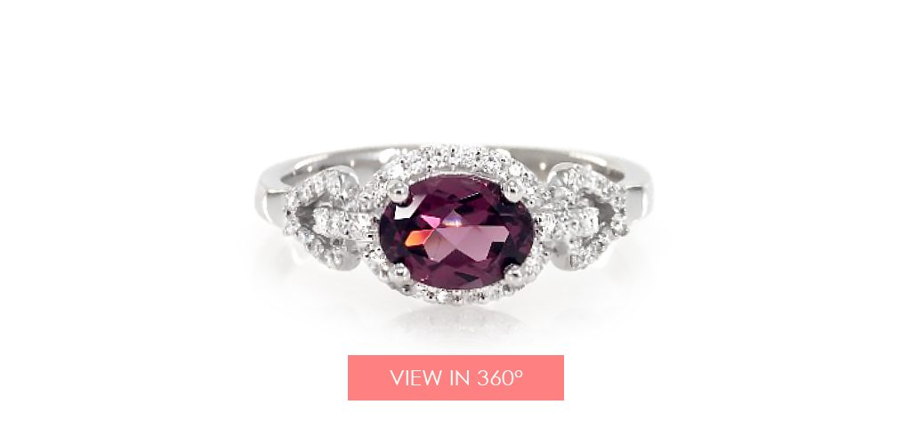 art deco garnet ring january birthstone