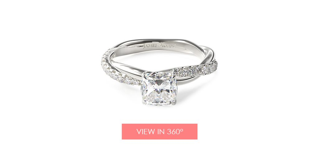 rope twist pave engagement ring