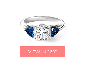 sapphire side stone engagement ring matching wedding rings: engagement ring and wedding band