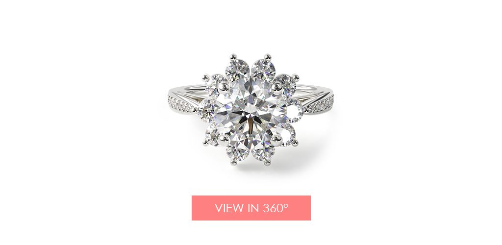 star halo engagement ring