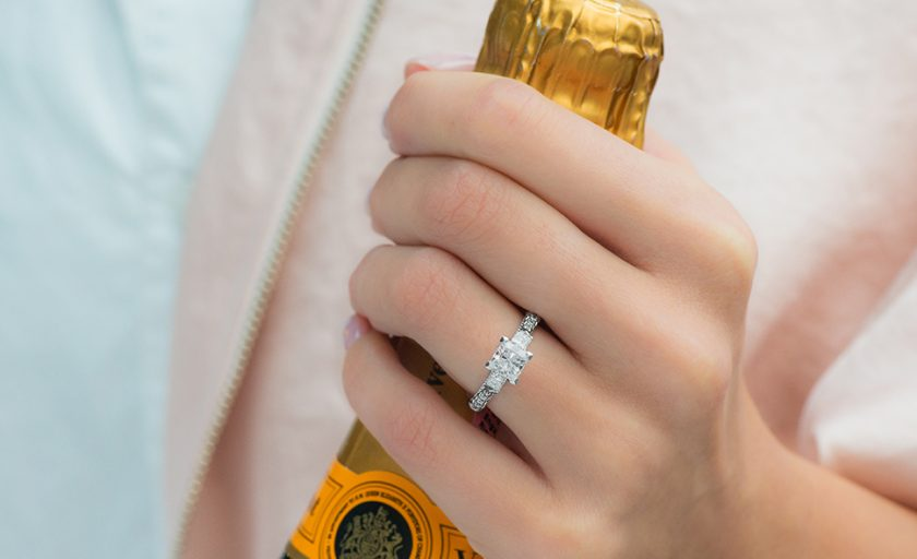 Sparkle Squared: Princess Cut Engagement Rings