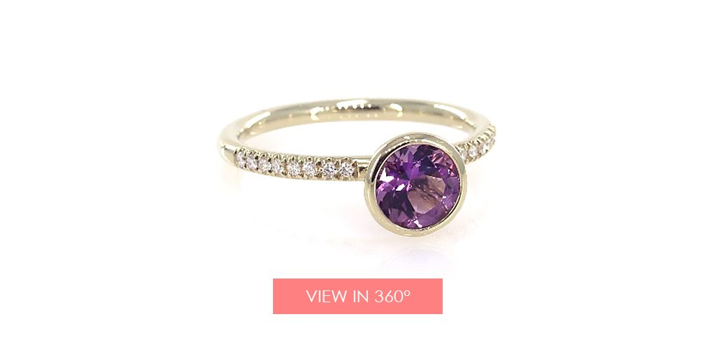 amethyst pave ring super bowl proposal