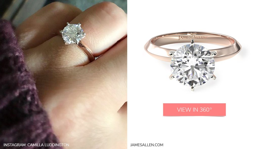 Celebrity Engagement Rings Camilla Luddington Rose Gold Solitaire