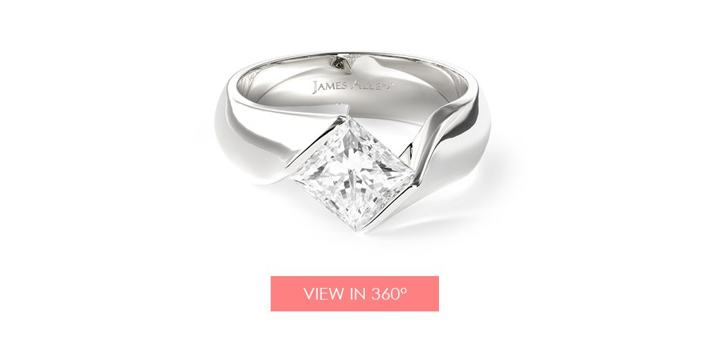 contoured tension set engagement ring