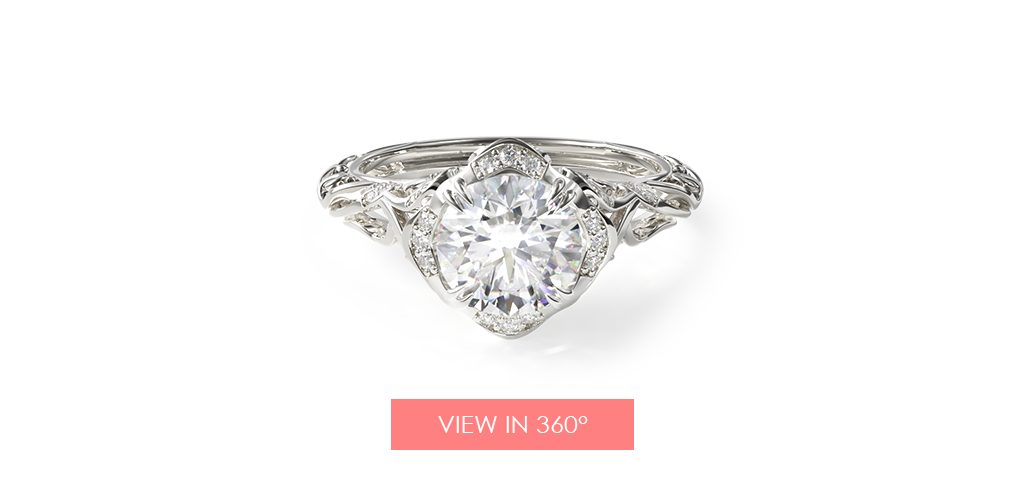 diamond filigree vintage engagement ring