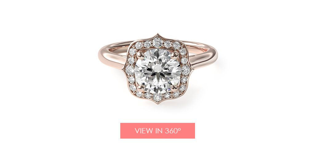 frame halo vintage engagement ring