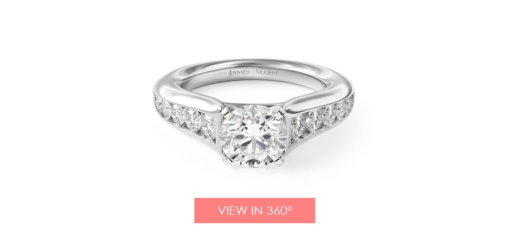 graduated channel set engagement ring