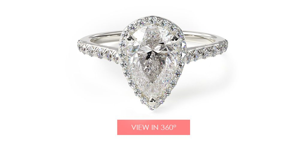 halo pave pear paris hilton's engagement ring