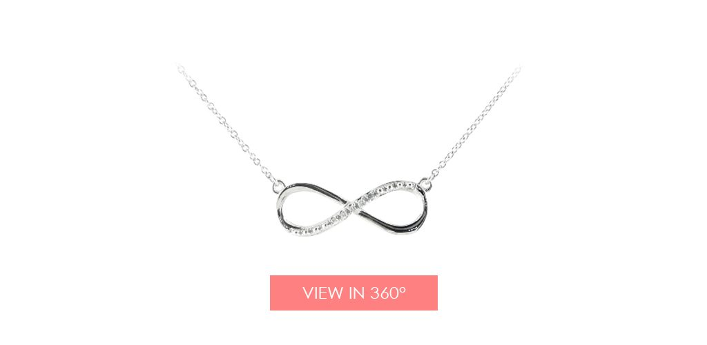 infinity necklace galentines day gifts