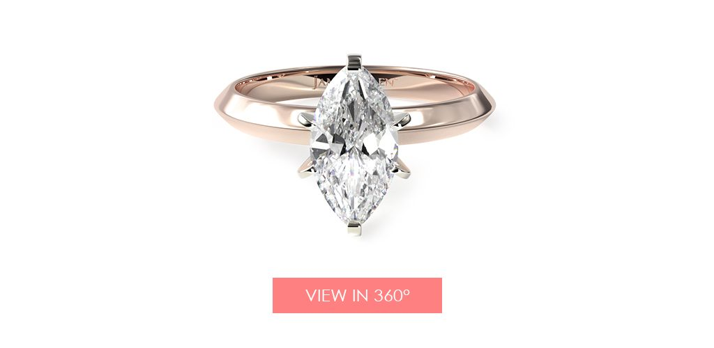 marquise diamond solitaire engagement ring super bowl proposal