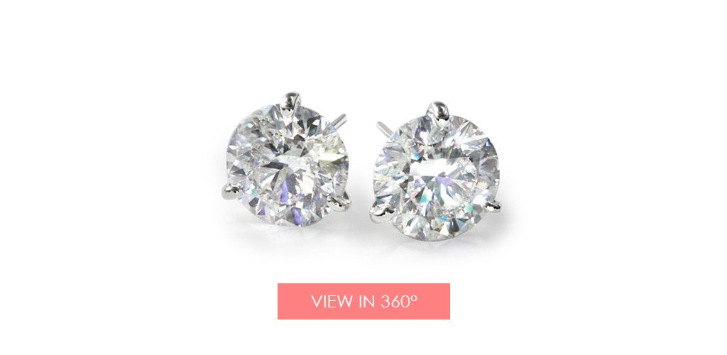 martini diamond earrings studs galentines day gifts