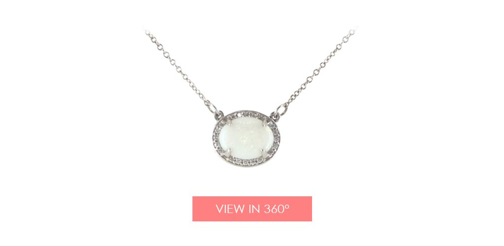 opal necklace galentines day gifts