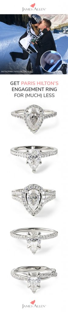 paris hilton's engagement ring pin pinterest