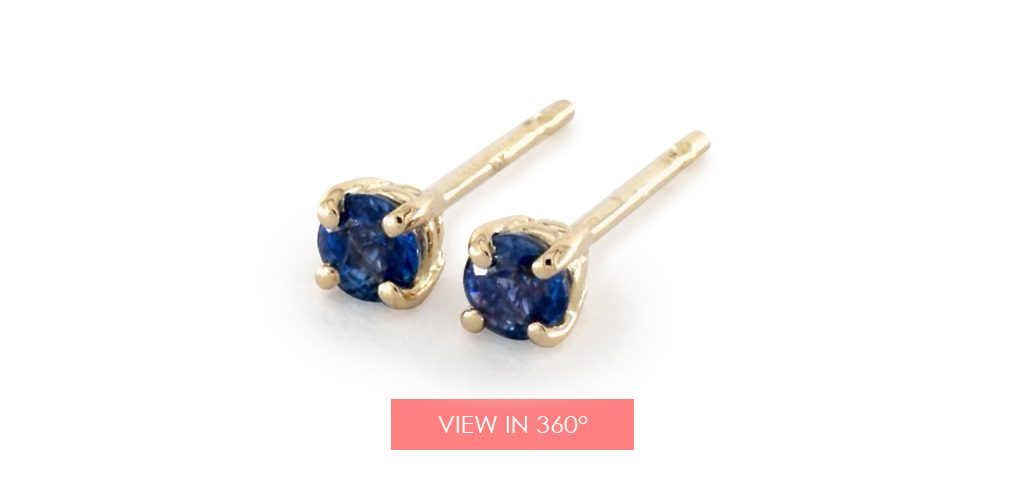 sapphire studs galentines day gifts