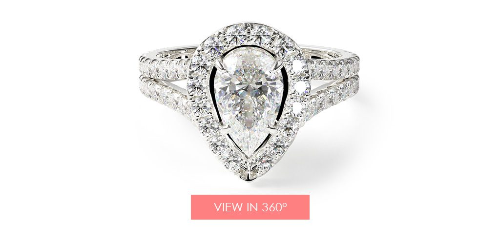 split shank pear pave halo paris hilton's engagement ring
