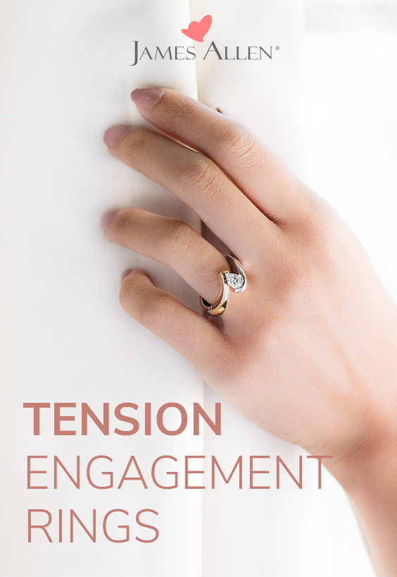 tension engagement rings pin pinterest