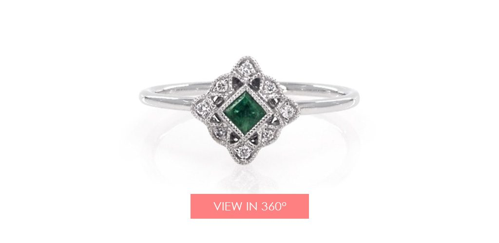 vintage emerald ring galentines day gifts