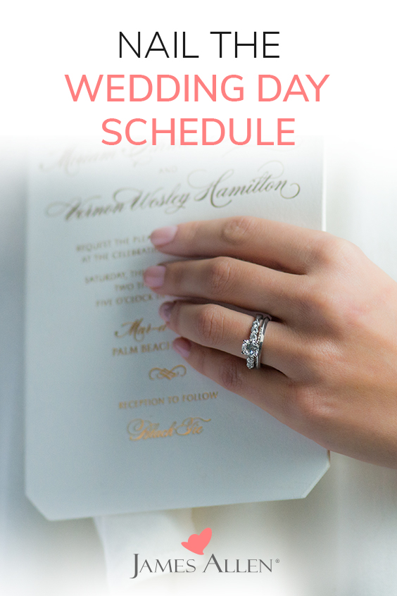 Pin this image to nail your wedding day schedule