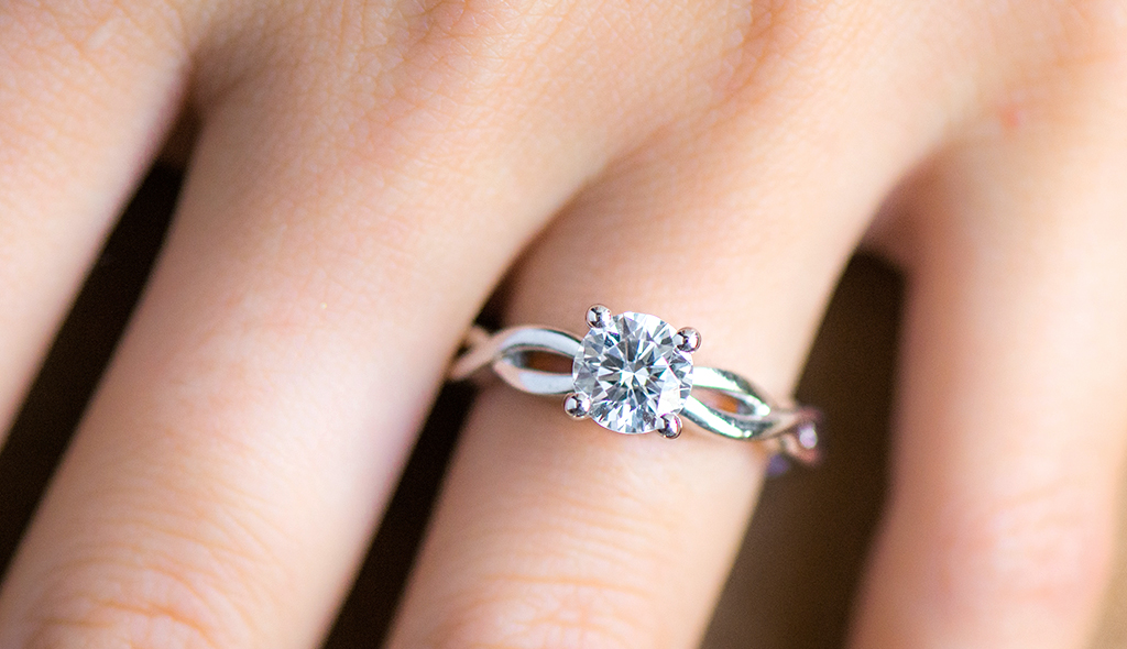 infinity engagement rings infinity solitaire engagement ring