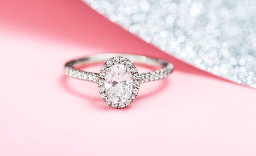 Shining White Gold Engagement Rings