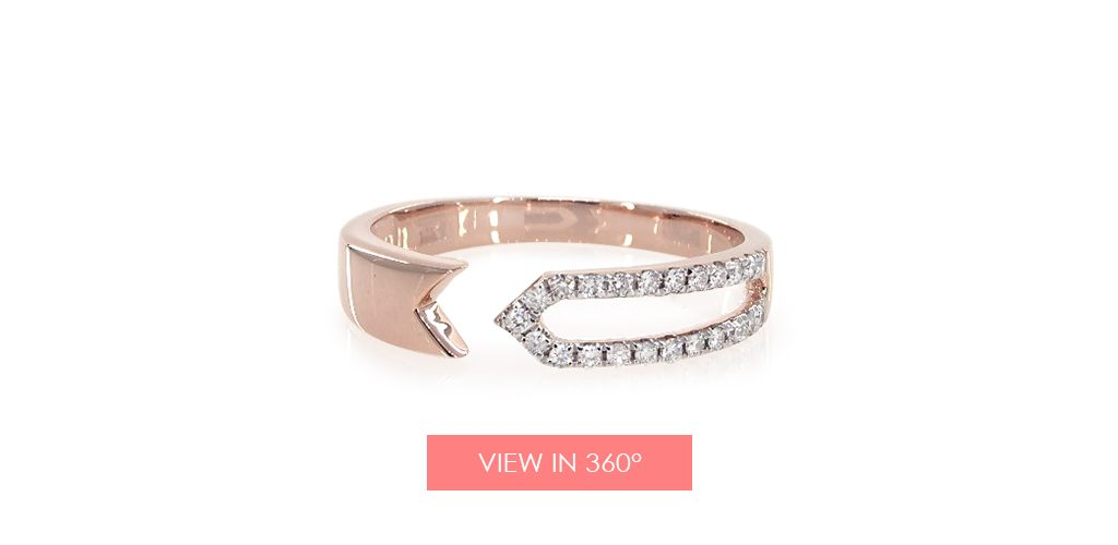 rose gold and diamond ring for Valentine's Day