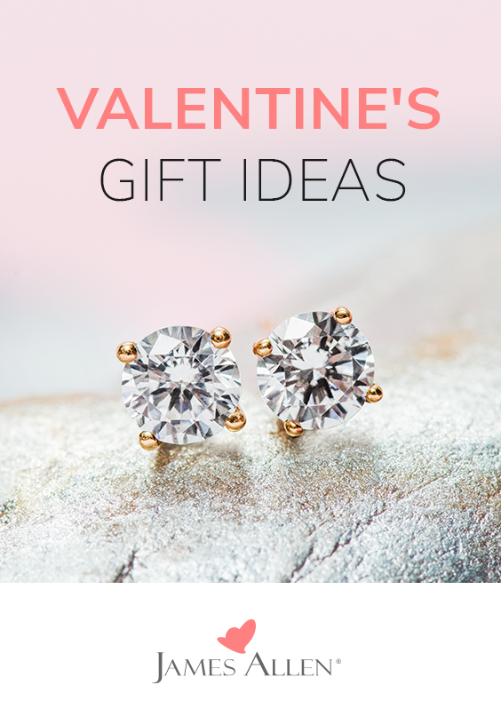Valentine's Day jewelry gift ideas on James Allen