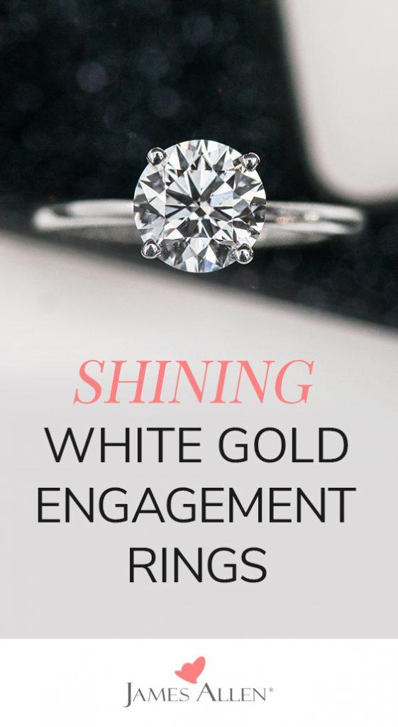 white gold engagement ring pin pinterest