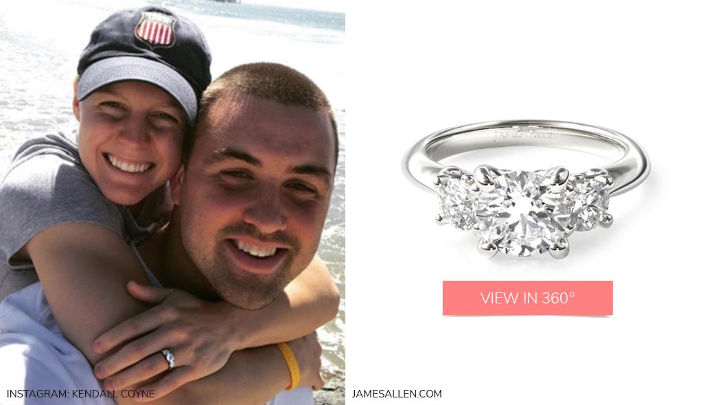 winter engagement rings three stone diamond engagement ring