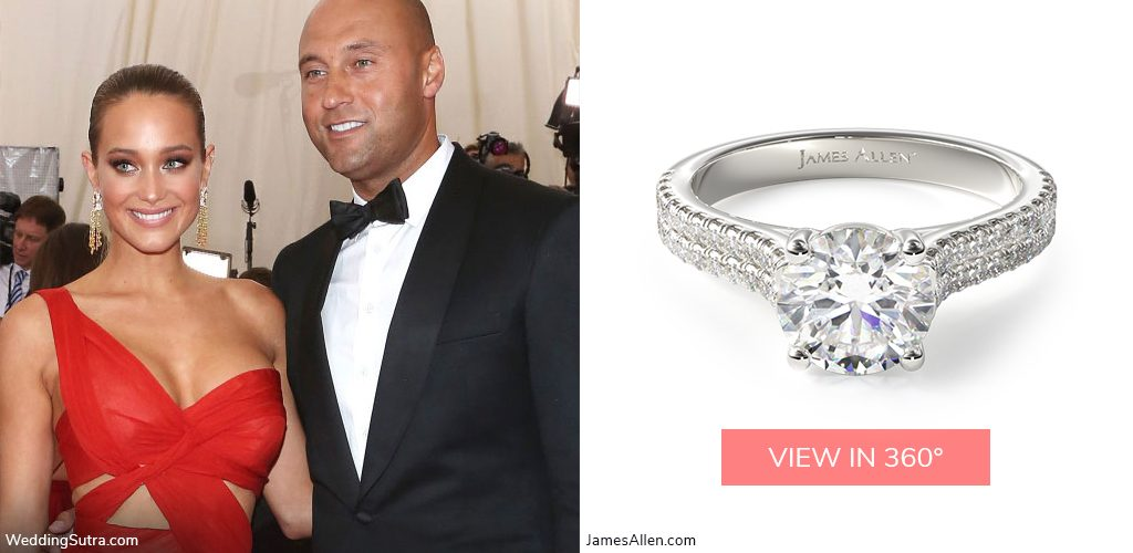 Derek Jeter Hannah Davis double pave engagement ring