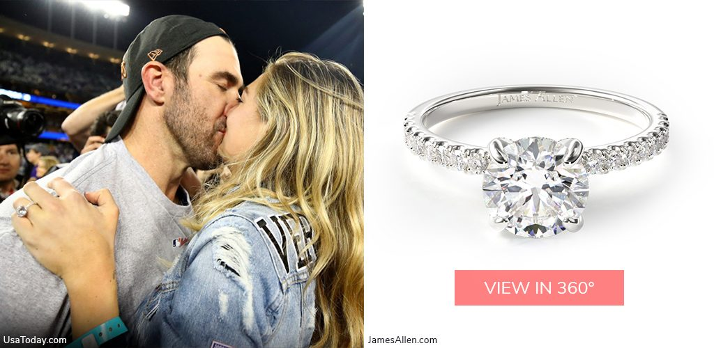 Justin Verlander Kate Upton pave engagement ring