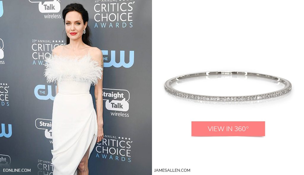 Red carpet jewelry to match Angeline Jolie's Critics Choice Awards outfit