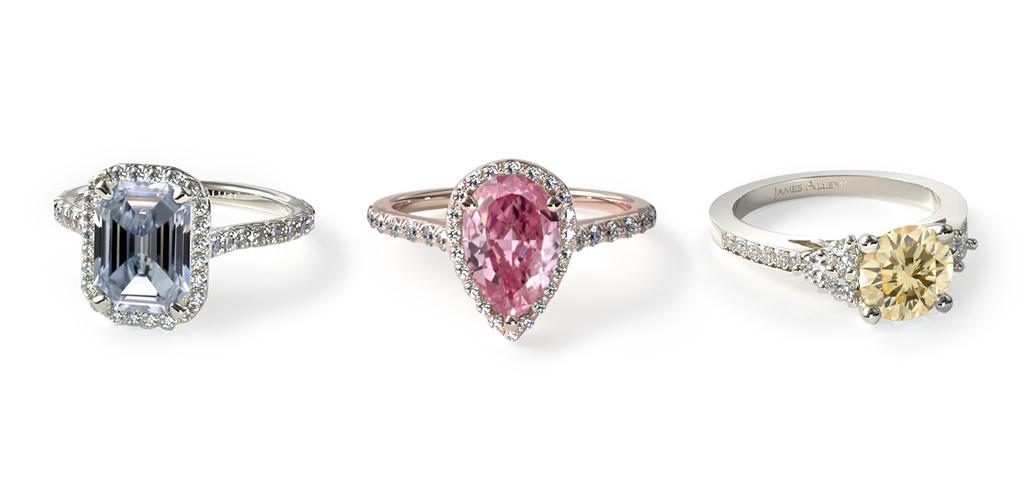 April birthstone fancy color diamonds