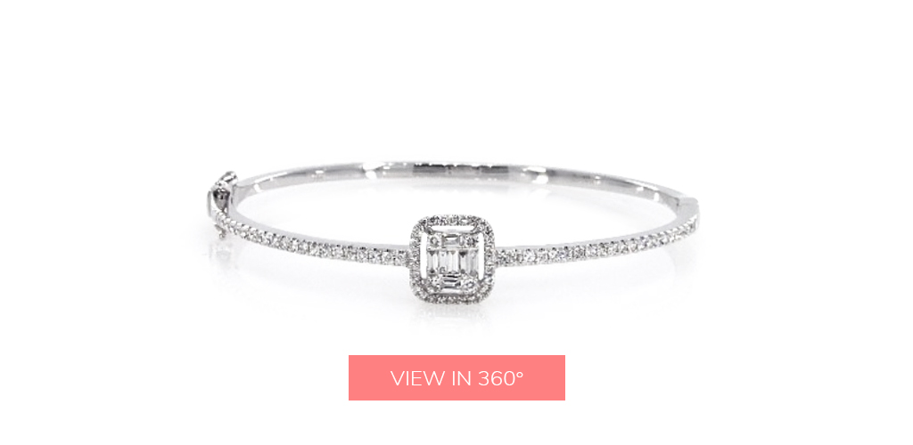 april birthstone grande illusion baguette bracelet