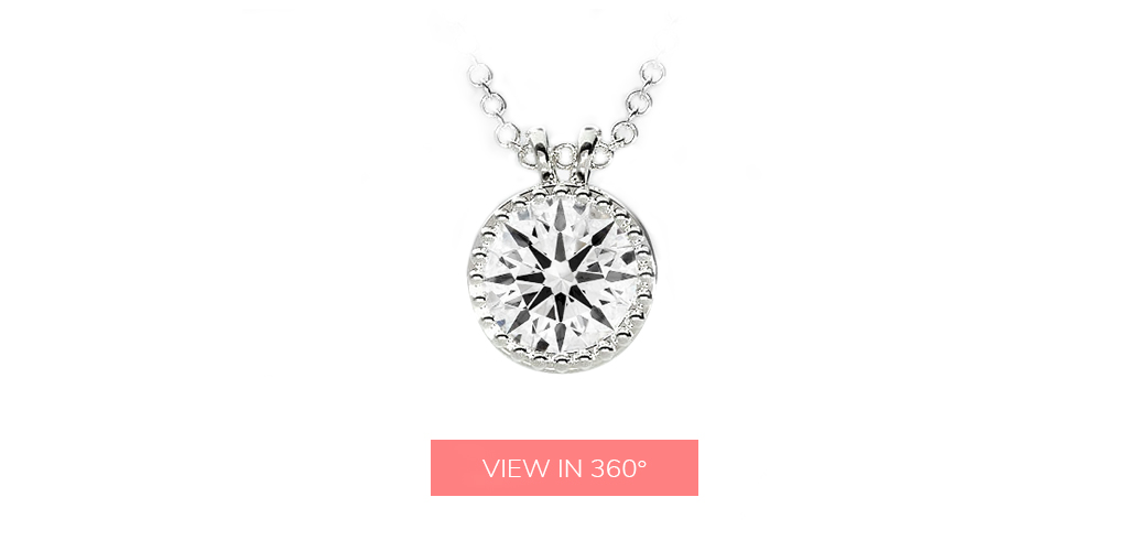 april birthstone milgrain bezel diamond pendant