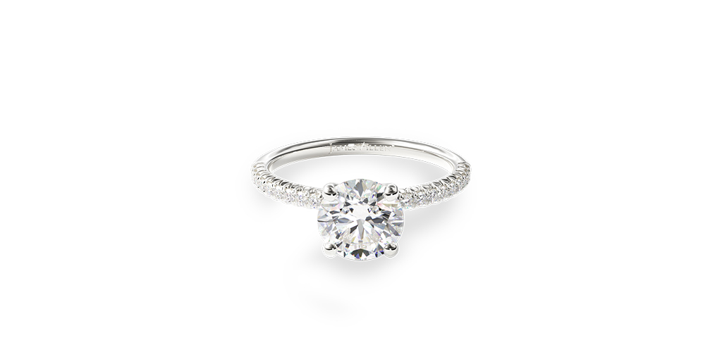april birthstone petite pavé engagement ring