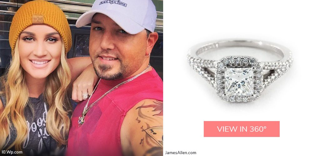 brittany kerr jason aldean country stars' engagement rings