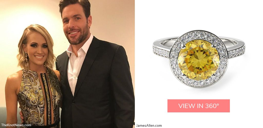 carrie underwood mike fisher country stars' engagement rings