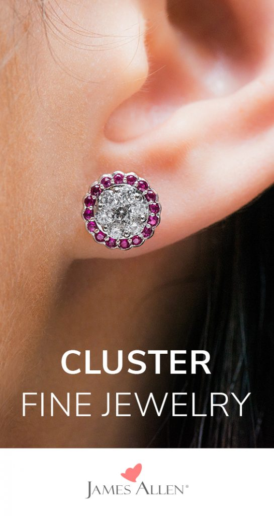 diamond cluster earrings pin pinterest