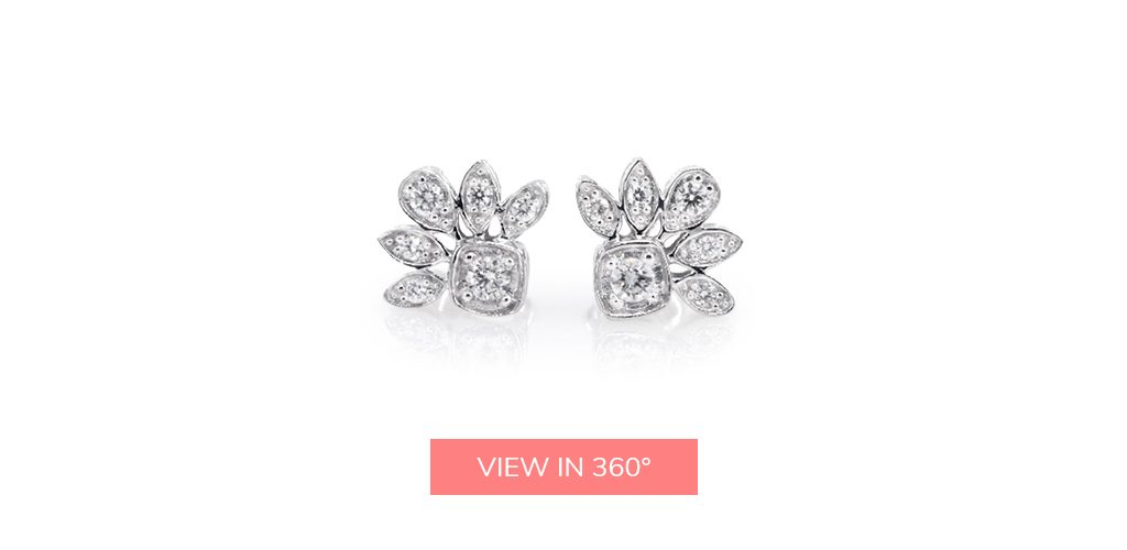 floral cluster diamond earrings