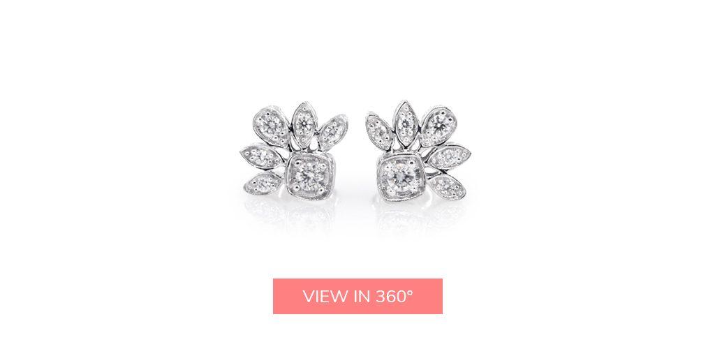 floral cluster diamond earrings