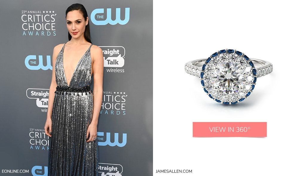 Red carpet jewelry to match Gal Gadot's Critics' Choice Awards dress
