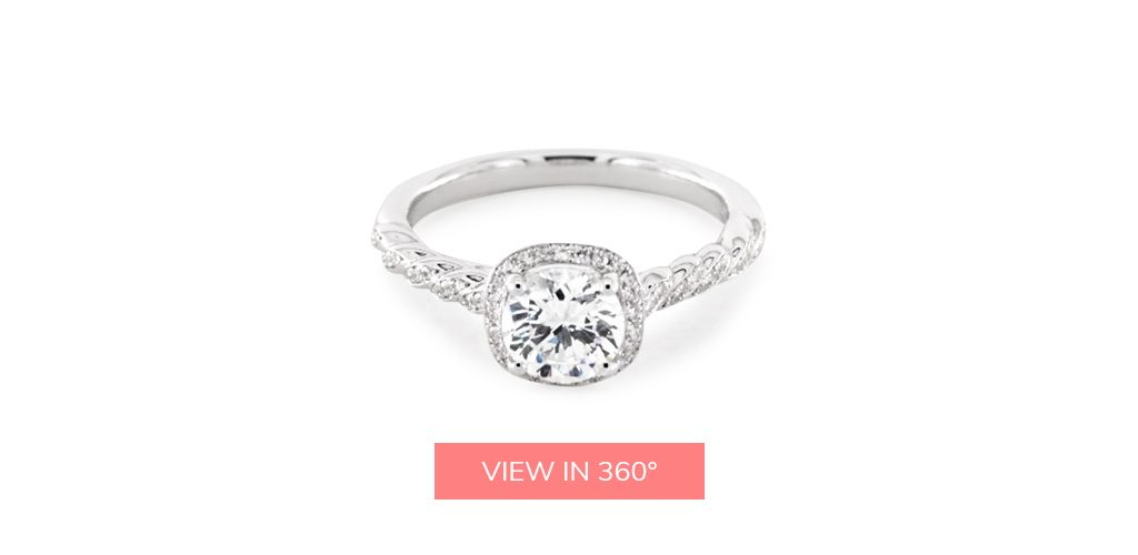 jeff cooper cushion halo platinum engagement ring