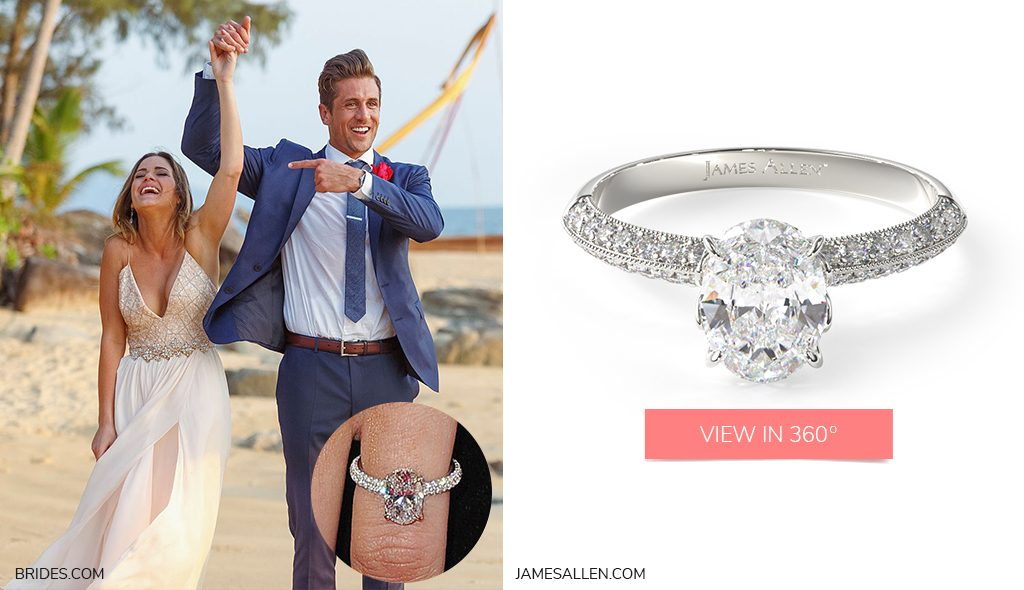 jojo jordan oval cut diamond bachelor engagement rings