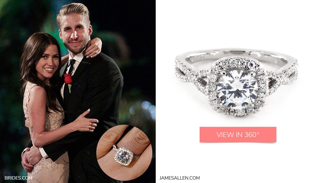 kaitlyn shawn infinity pave bachelor engagement rings