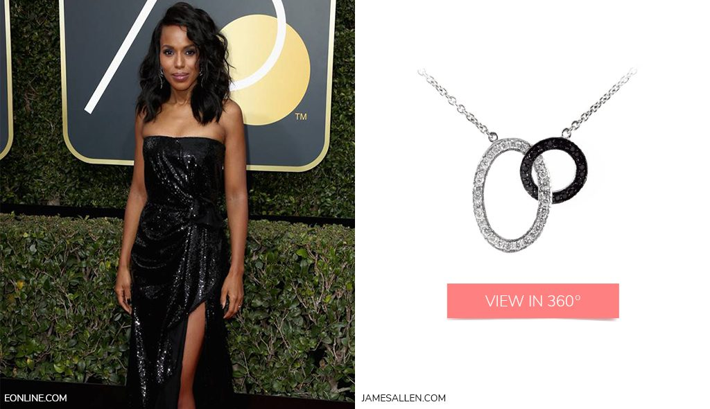 Intertwining necklace to match Kerry Washington's red carpet outfit