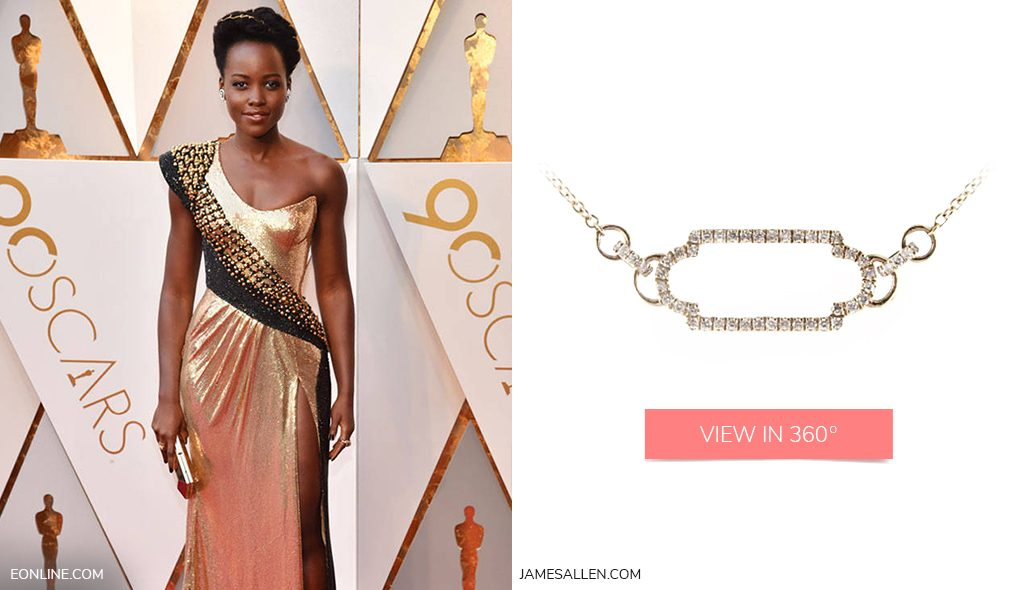 Yellow gold necklace to match Lupita Nyongo's red carpet Oscars dress