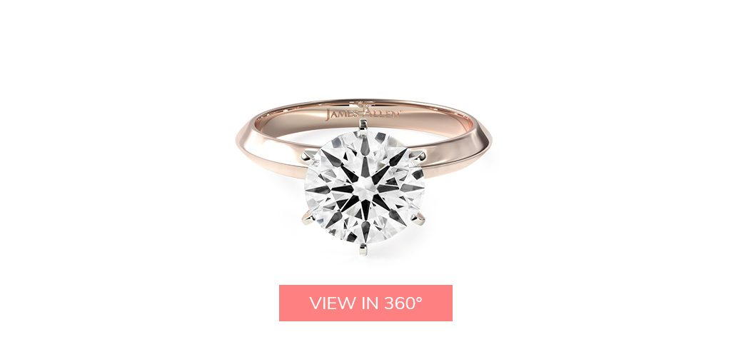 round cut diamonds ideal cut true hearts solitaire engagement ring
